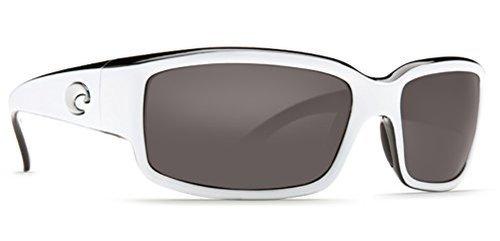 Costa Del Mar Caballito Sunglasses, White/Black, Gray 580Plastic Lens