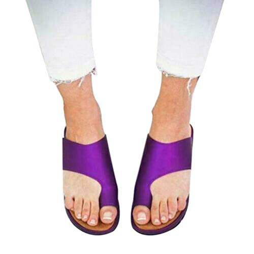 HIFUAR Women's Platform Slippers Fashion Heel Wedges Sandals Slippers Peep Toe Platforms Summer Shoes Non-Slip Purple US 10.5