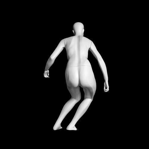 (MZ-F-SKI) ROXYDISPLAY™ Abstract Head, Glossy White, Female SKI Fullbody Mannequin by ROXYDISPLAY™ (Image #5)