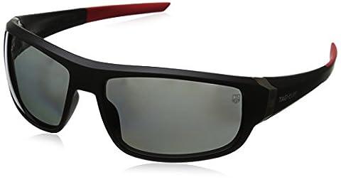 Tag Heuer Racer2 9221 901 Rectangular Sunglasses, Black & Red, 64 mm (Tag Heuer Women Black)