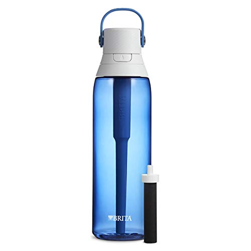 Brita 26 Ounce Premium Filtering Water Bottle with Filter BPA Free – Sapphire