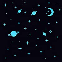 Glow in The Dark Stars and Planets for Ceiling Decoration Kids Room Wall Decor Luminous Sticker Decal Baby Bedroom Deco Stickers : BE