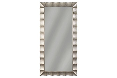 Ashley Laasya Accent Mirror Contemporary Antique Silver Finish ()