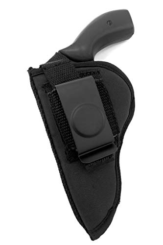 USA Made RH/LH Deluxe OWB Belt Slide or Clip-On Holster for Rossi 38 Special 5-Shot Revolver, 3