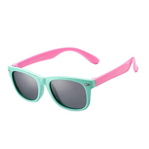 AZORB Kids Polarized Sunglasses TPEE Rubber Flexible Frame for Boys Girls Age 3-10, 100% UV Protection