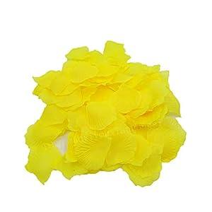 Elibone 100/500/1000pcs Simulation Rose Petals Silk Festival Party Table Flower Confetti Wedding Decoration DIY Party Supplies,Yellow,SH012-1000pcs 101