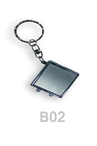 Small Square Travel Portable Compact Metalic Small Keychain Pocket Mirror SFS