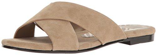 Dolce Vita Women's Karlo Flat Sandal, Light Olive Suede, 8.5 M US