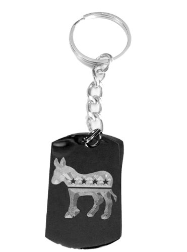 Democrat Democratic Party Donkey Political Vote Election 2012 Logo Symbols - Metal Ring Key Chain Keychain (Paintbrushes And Party)
