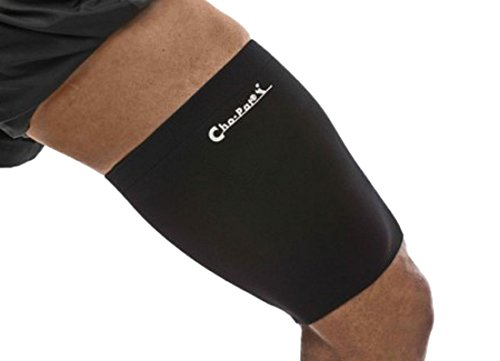 Cho-Pat Thigh Compression Sleeve - for Tight and Sore Hamstrings, IT Band Syndrome (ITBS), Hamstring Strain, Tight Quadriceps - XL (20.5''-21.5'')