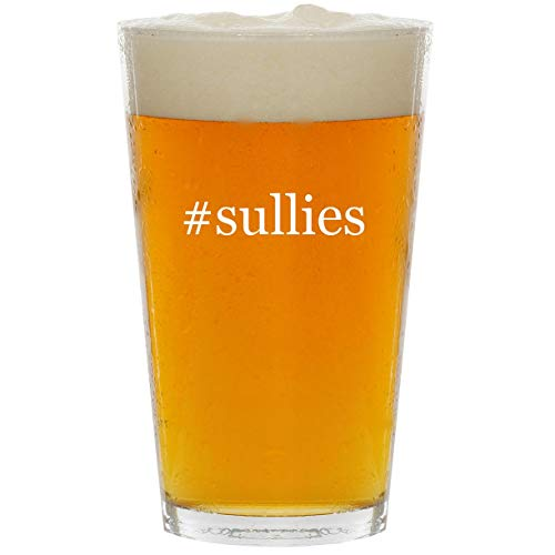 #sullies - Glass Hashtag 16oz Beer -