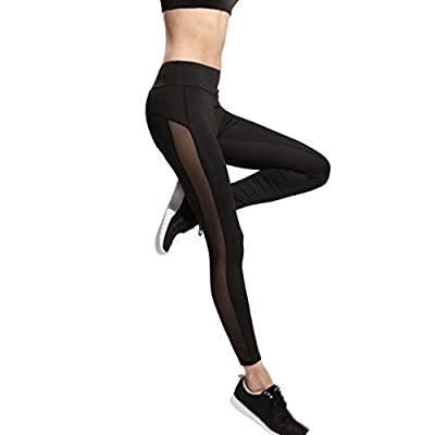 Daxin Women Strech Sports Yoga Fitness Leggings Mesh Hollow Workout leggings-pants