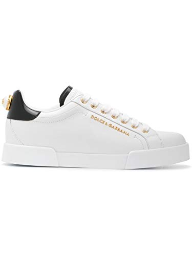 (Dolce e Gabbana Women's Ck1602ah50689662 White Leather Sneakers)