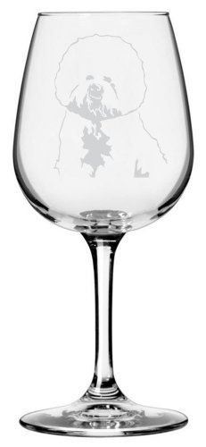 Bichon Frise Dog Themed Etched All Purpose 12.75oz Libbey Wine Glass