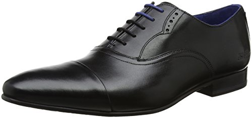 Ted Baker Mens Black Leather Murain Shoes-UK - Ted Stockist Baker
