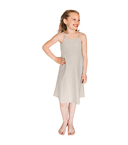 POPINJAY Girls' Spaghetti Strap Cami Summer Dress for Toddlers and Big Kids, Feels Soft and Looks Adorable, Perfect for Spring and Fall - Size 2T - 14 (Sage, 12)