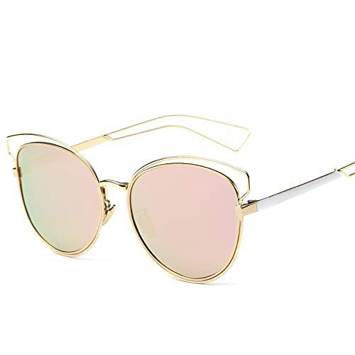 WHHJL Gafas de sol Gafas De Sol Gafas De Sol Ranas Polarizadas Espejo Pelicula En Color Reflectante Para Mujer Gafas Retro 8613, A01
