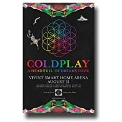 "Coldplay Poster - 11 x 17 Promo for a Concert on ""A Head Full Of Dreams"" Tour -- AZ"