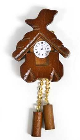 Miniature Realistic Look Cuckoo Clock Inspired By a Genuine Black Forest Clock (Clock Cuckoo Reproduction)