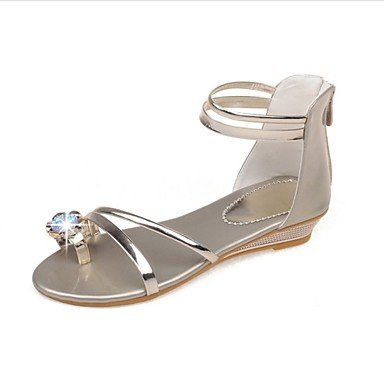 LvYuan de las mujeres otro vestido de la PU de las sandalias del verano del resorte Gold