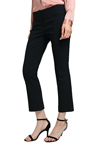 ATOUR Women's Bootcut Dress Pants Stretch Comfy Work Trousers Office Wear Casual Ladies Pant Black Size 4 (Bootcut Dress Pants)