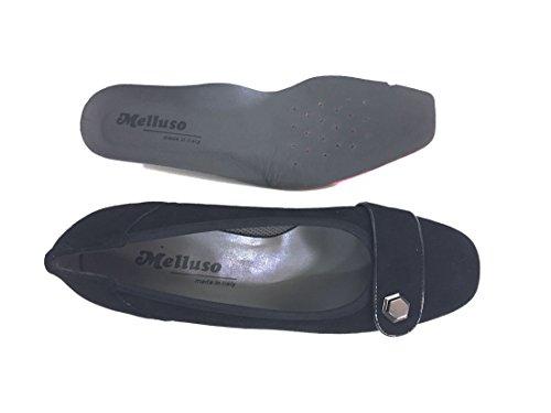 MELLUSO X5473X Nero Scarpa Donna Tacco Decolletè Pelle Plantare Estraibile Made in Italy