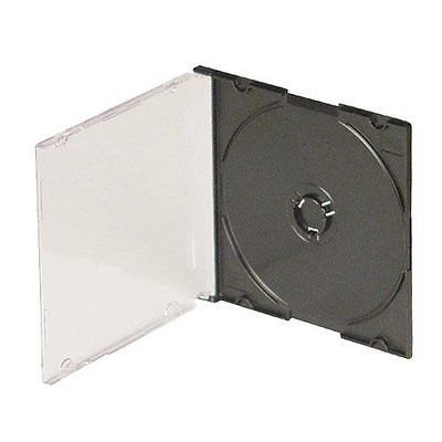 AmeriCopy 5.2mm Slim Jewel Cases - (50, Black) - Fifty Cases