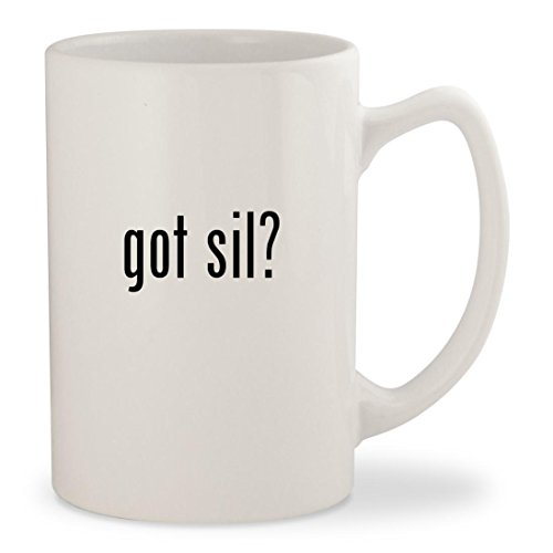 Got Sil    White 14Oz Ceramic Statesman Coffee Mug Cup