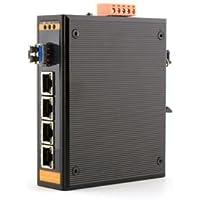 Networx Industrial Gigabit Ethernet Fiber Media Converter - 1000Base-LX - LC Singlemode, 20km, 1310nm, 4 port