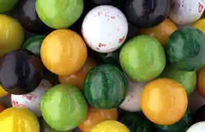 Gumballs By The Pound - 1 Pound Bag of Fruity Fruits