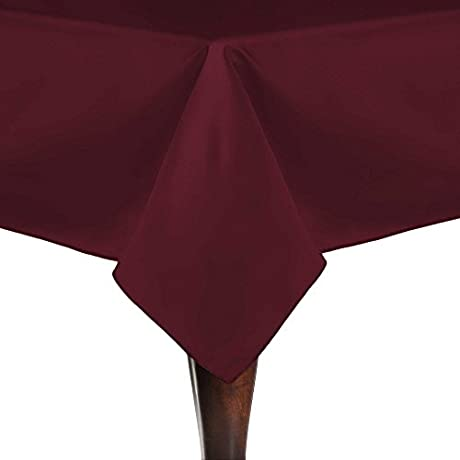 Ultimate Textile 40 Pack Satin Duchess 60 X 90 Inch Rectangular Tablecloth For Wedding Special Event Or Banquet Use Magenta Red
