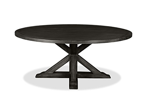 """South Cone Home Bayliss Round Dining Table, 72"""", Grey"""