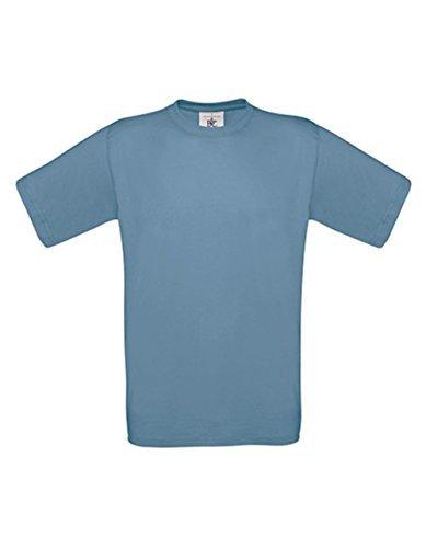 T-Shirt Exact 190 Basics Rundhals Shirt viele Farben B&C S-XXL S,stoneblue