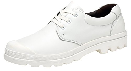 Leisure Athletic EU Leather Shoes 89166 Smart Bussiness Cozy White New QYY Mens Comfy 41 wHUIq