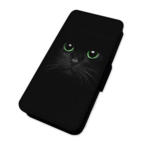 Black Cat Green Eyes–Custodia ad aletta in pelle copertura di carta Apple iPhone 6/6S
