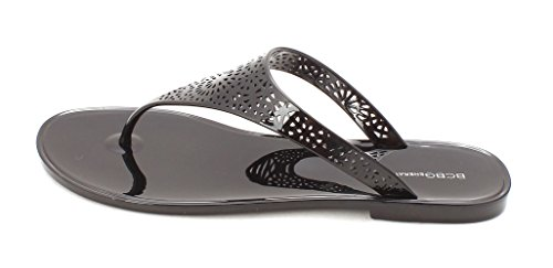 BCBGeneration Womens Starr2 Open Toe Casual, Black, Size 7.0