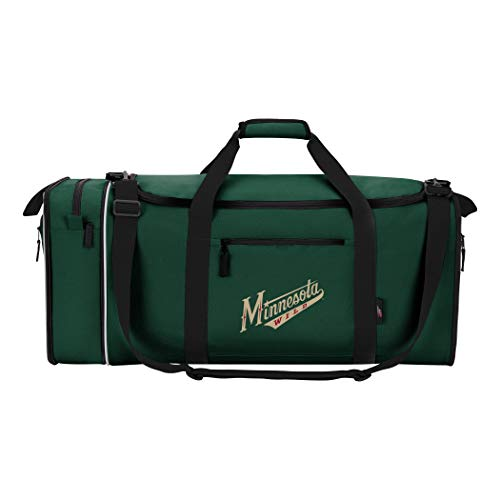 Officially Licensed NHL Minnesota Wild Steal Duffel Bag]()