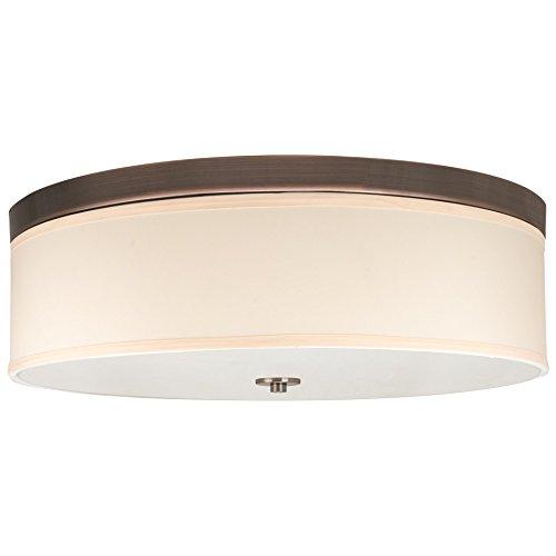 "Price comparison product image Revel Walker 20"" Flush Mount Ceiling Light,  Creme Shade,  Oil-Rubbed Bronze"