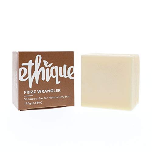 Ethique Eco-Friendly Solid Shampoo Bar for Normal-Dry or Frizzy Hair, Frizz Wrangler 3.88 oz (Best Shampoo For Thin Dry Frizzy Hair)