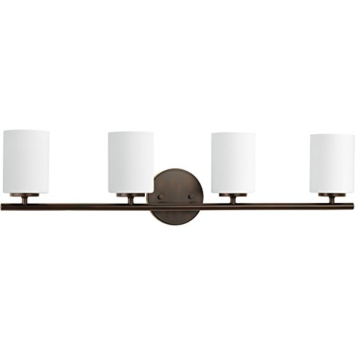Progress Lighting P2160-20 Contemporary/Soft 4-100W Med Bath Bracket, Antique Bronze