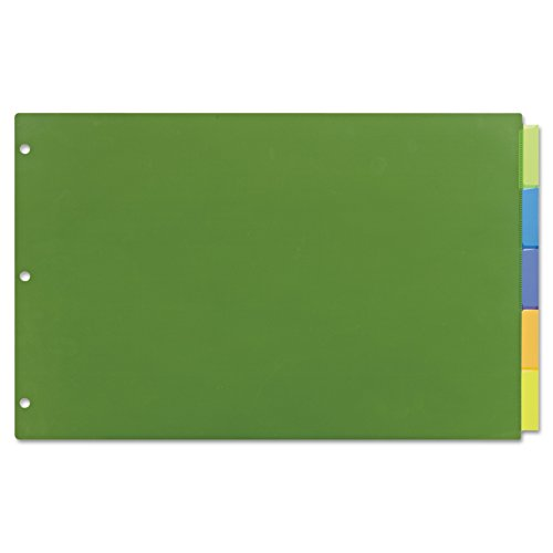 Avery 11178 Insertable Big Tab Plastic Dividers, 5-Tab, 11 x 17 (Avery Insertable)