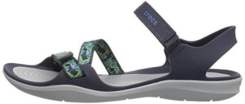 Black Crocs Blu Swiftwater Navy Webbing Sandal Woman 11xfqwgOIa