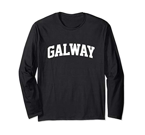 Galway Vintage Retro Sports Team College Gym Arch Long Sleeve T-Shirt