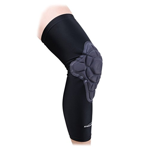 nee Pads 1 Piece Compression Protective Knee Long Sleeve Support Guard for Teens Men Black Small(60-70LBS) ()