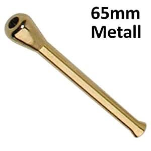 tubo de extracción con botón De Metal oro 65mm Snuff Snort