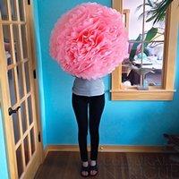 Giant Tissue Paper Pom Poms Lanterns Decorations Pink 19'' (Pack of 5) (Pink)