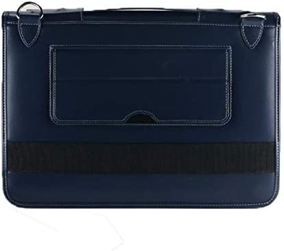 Contour Series Broonel Blue Leather Protective Cover with Shoulder Strap Compatible with The Lenovo IdeaPad Slim 1 14 Inch HD Laptop