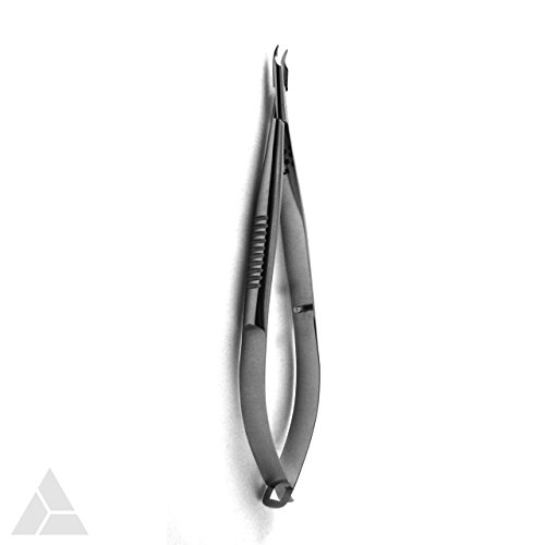 (Baby Barraquer Needle Holder Micro Small with Smooth Jaws, Curved without Lock, 11 cm Length, FDA Approved (CNH-1139/1))