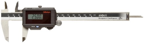 Mitutoyo ABSOLUTE 500-776 Digital Caliper, Stainless Steel, Solar Powered, 0-150mm Range, +/-0.02mm Accuracy, 0.01mm Resolution, Meets IP67 Specifications - Mitutoyo Wood Caliper