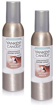 Yankee Candle 2 Pack Coconut Beach Concentrated Room Spray 1